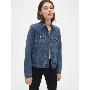 Gap Icon Denim Jean Jacket Pocket Front Large
